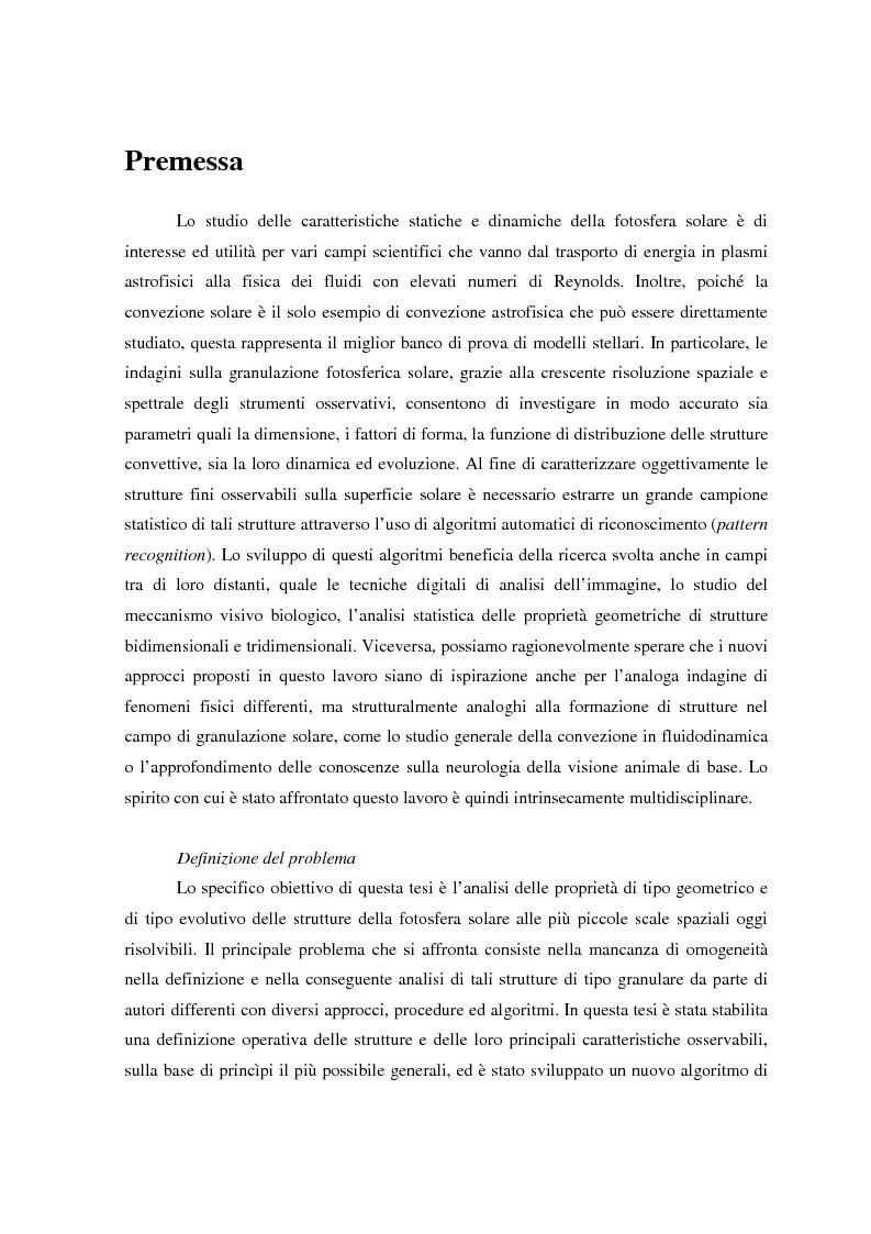 Anteprima della tesi: Analisi delle proprietà geometriche ed evolutive di strutture fotosferiche solari tramite algoritmi paralleli di riconoscimento e tracciamento, Pagina 1