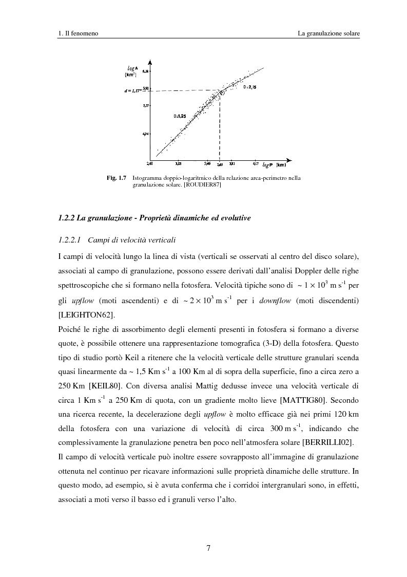 Anteprima della tesi: Analisi delle proprietà geometriche ed evolutive di strutture fotosferiche solari tramite algoritmi paralleli di riconoscimento e tracciamento, Pagina 10