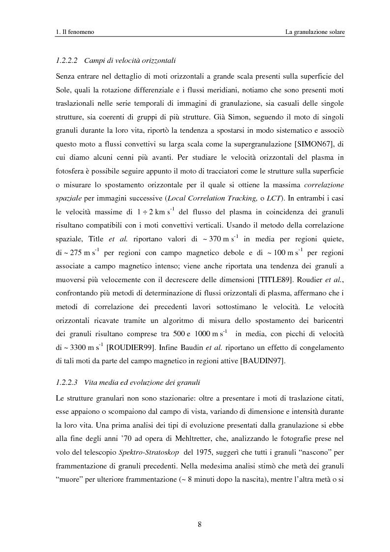 Anteprima della tesi: Analisi delle proprietà geometriche ed evolutive di strutture fotosferiche solari tramite algoritmi paralleli di riconoscimento e tracciamento, Pagina 11