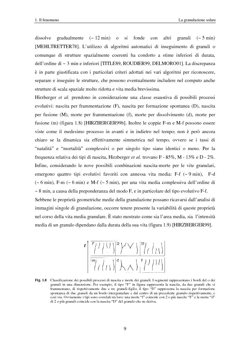 Anteprima della tesi: Analisi delle proprietà geometriche ed evolutive di strutture fotosferiche solari tramite algoritmi paralleli di riconoscimento e tracciamento, Pagina 12