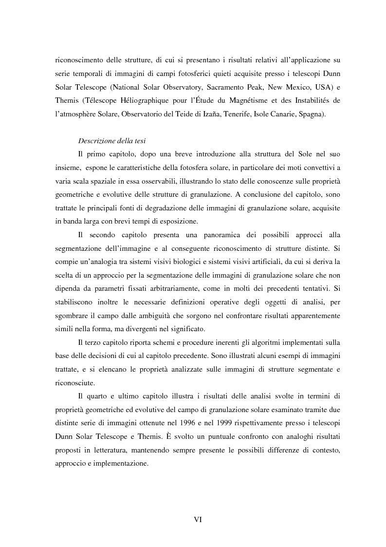 Anteprima della tesi: Analisi delle proprietà geometriche ed evolutive di strutture fotosferiche solari tramite algoritmi paralleli di riconoscimento e tracciamento, Pagina 2
