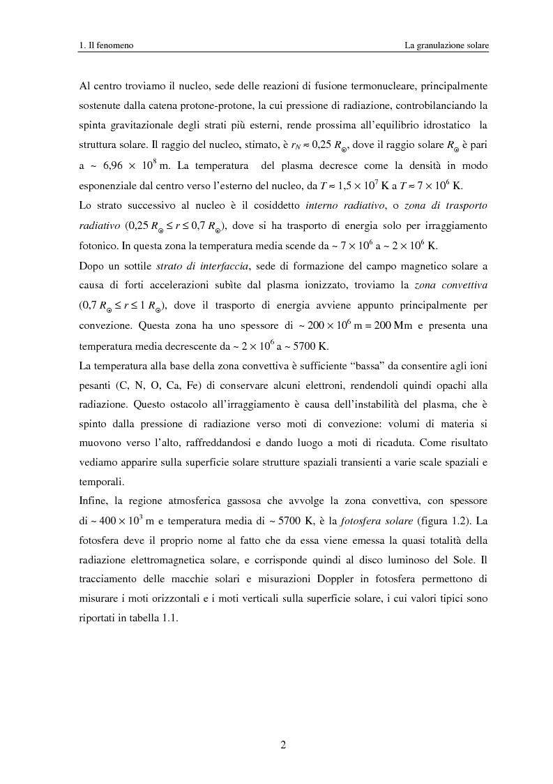 Anteprima della tesi: Analisi delle proprietà geometriche ed evolutive di strutture fotosferiche solari tramite algoritmi paralleli di riconoscimento e tracciamento, Pagina 5