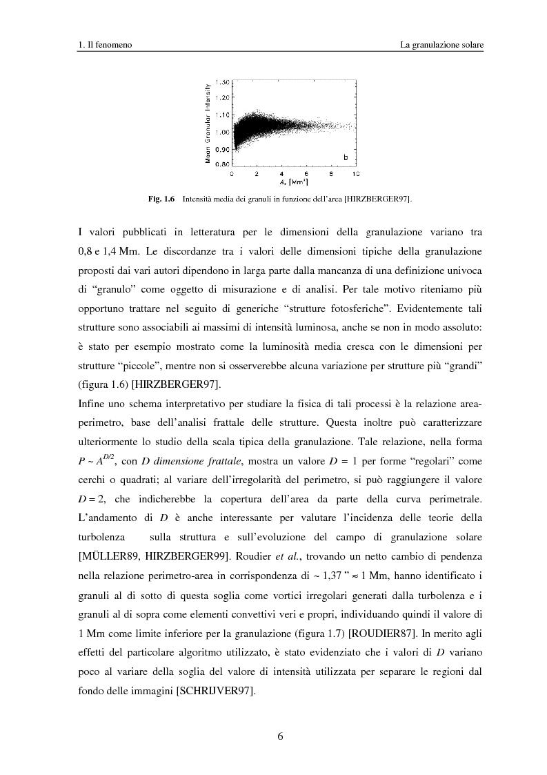 Anteprima della tesi: Analisi delle proprietà geometriche ed evolutive di strutture fotosferiche solari tramite algoritmi paralleli di riconoscimento e tracciamento, Pagina 9
