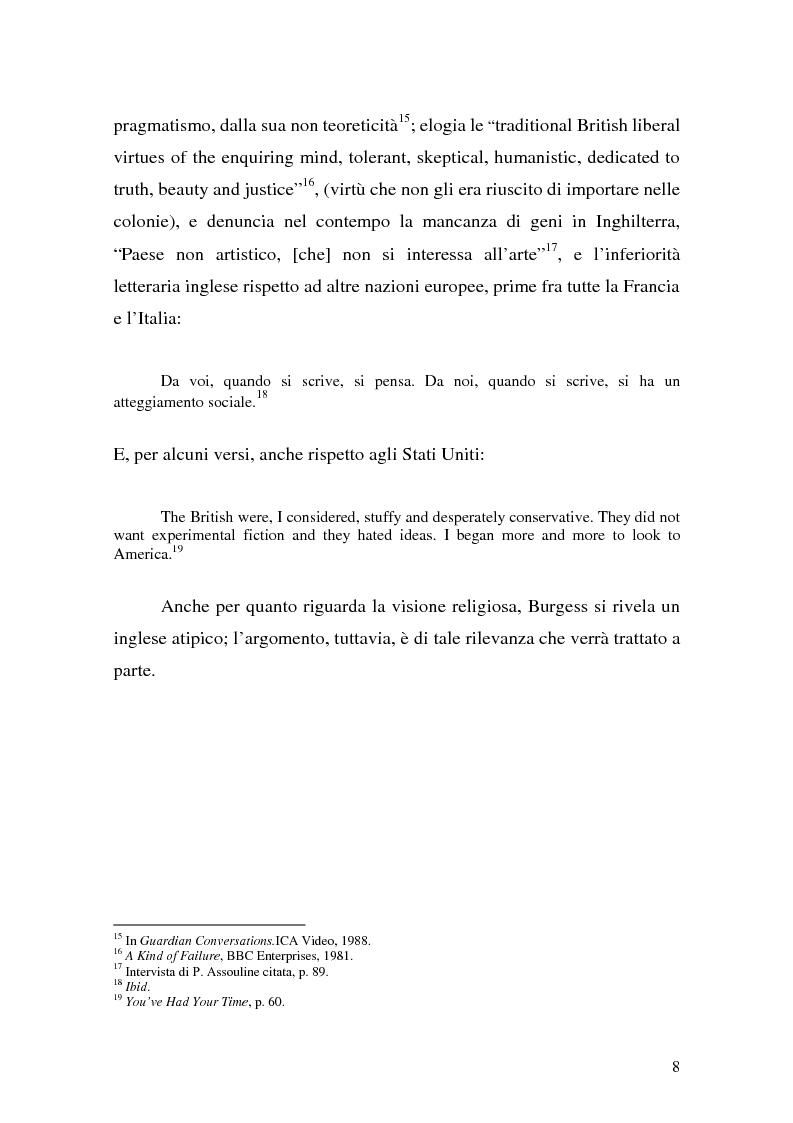 Anteprima della tesi: ''Queer as a Clockwork Orange'': la narrativa distopica di Anthony Burgess, Pagina 5