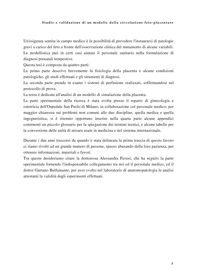 Anteprima della tesi: Studio e validazione di un modello di circolazione fetoplacentare, Pagina 4