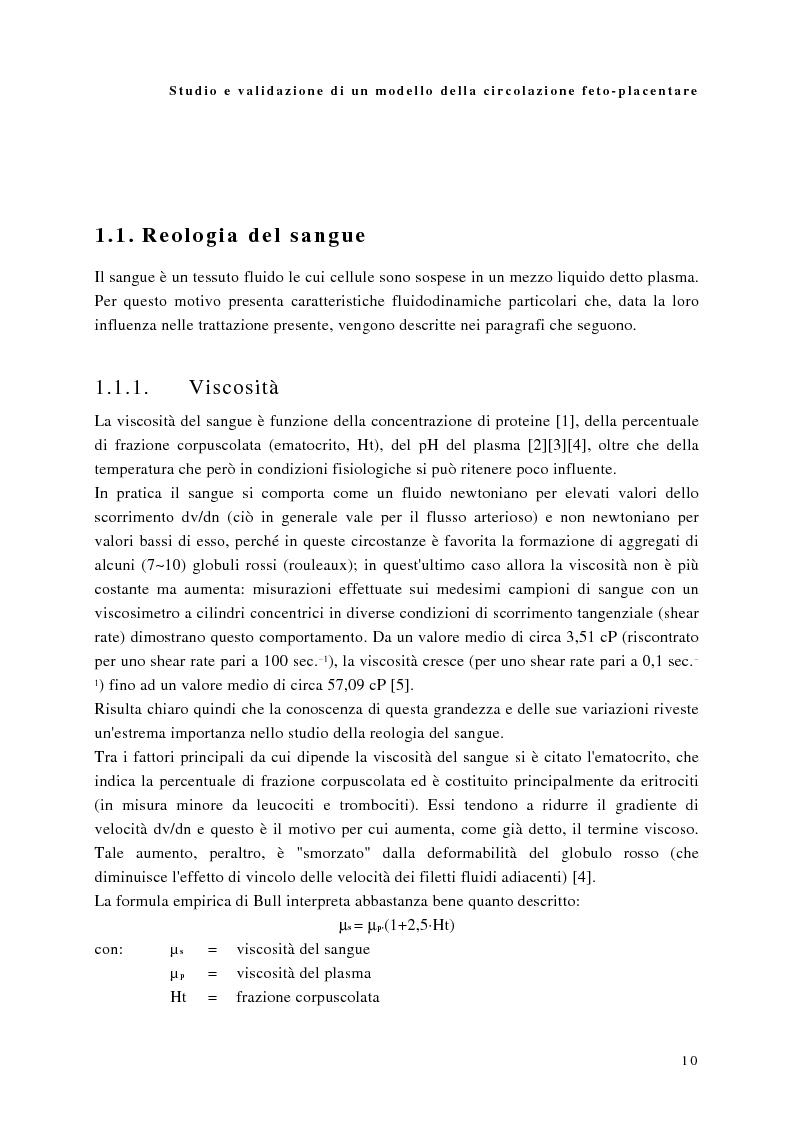 Anteprima della tesi: Studio e validazione di un modello di circolazione fetoplacentare, Pagina 6