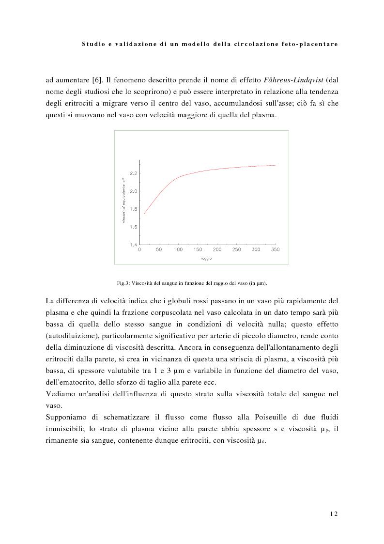 Anteprima della tesi: Studio e validazione di un modello di circolazione fetoplacentare, Pagina 8