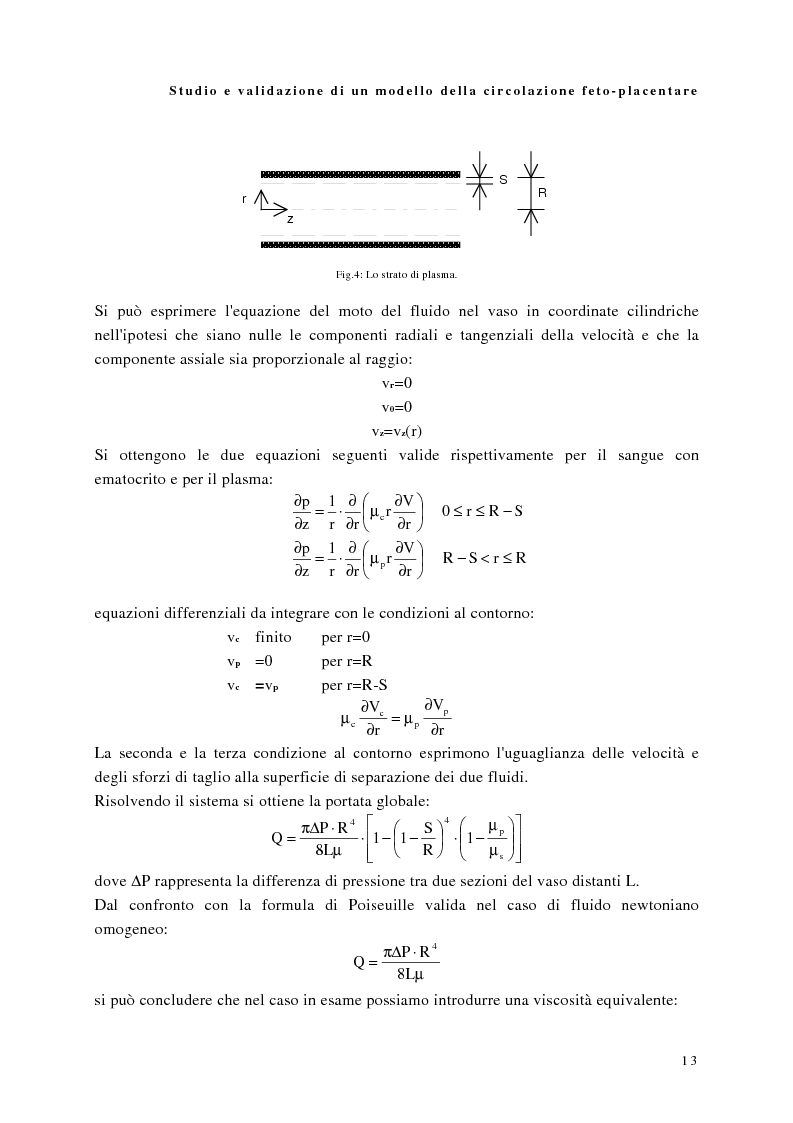 Anteprima della tesi: Studio e validazione di un modello di circolazione fetoplacentare, Pagina 9