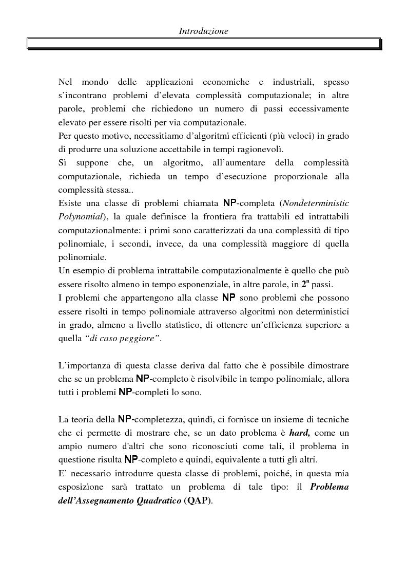 Anteprima della tesi: Metodi di assegnazione ottima ed applicazioni, Pagina 1