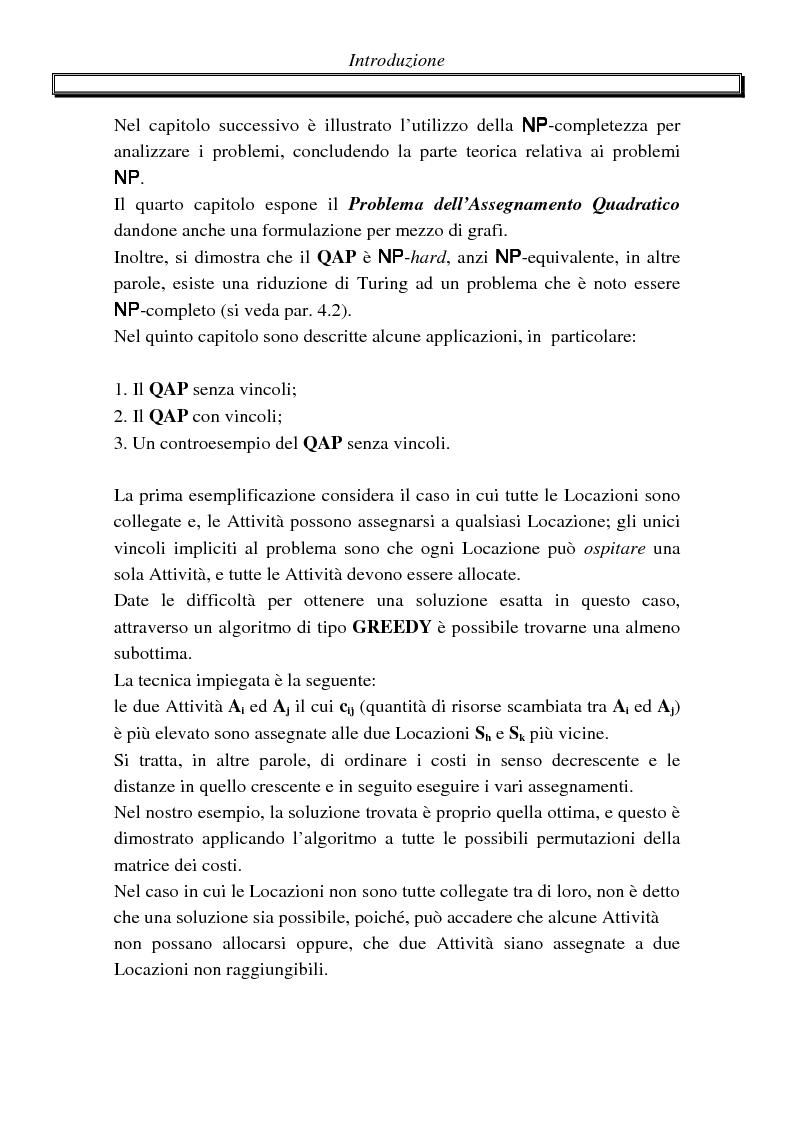 Anteprima della tesi: Metodi di assegnazione ottima ed applicazioni, Pagina 4