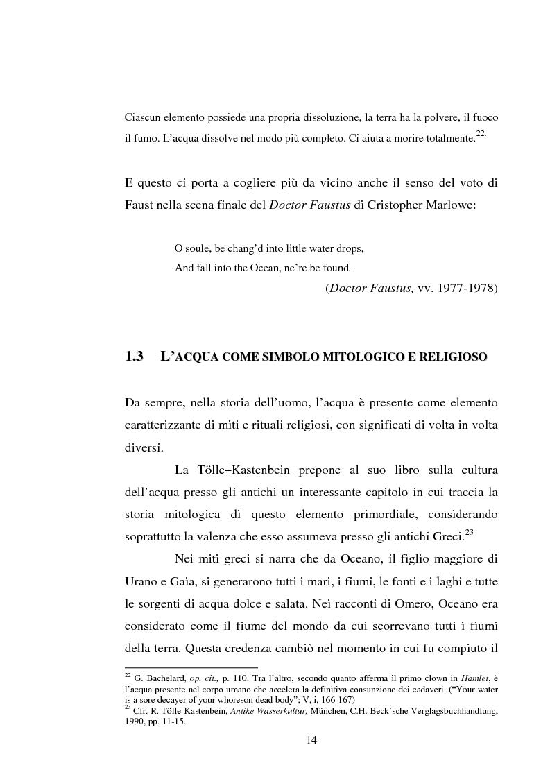 Anteprima della tesi: Le immagini dell'acqua nel teatro di William Shakespeare, Pagina 13