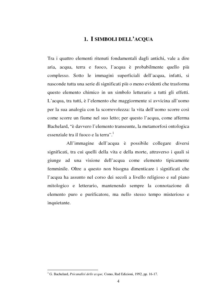 Anteprima della tesi: Le immagini dell'acqua nel teatro di William Shakespeare, Pagina 3