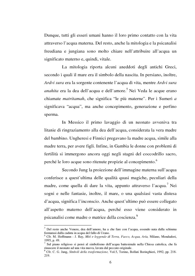 Anteprima della tesi: Le immagini dell'acqua nel teatro di William Shakespeare, Pagina 5
