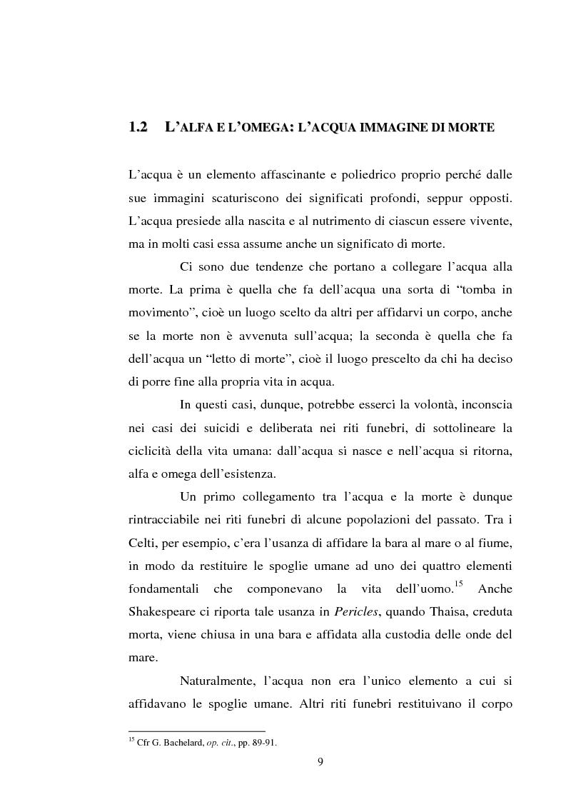 Anteprima della tesi: Le immagini dell'acqua nel teatro di William Shakespeare, Pagina 8