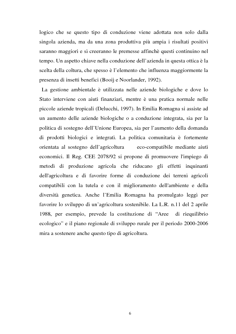 Anteprima della tesi: Influenza delle zone non coltivate sul ciclo degli insetti predatori, Pagina 4