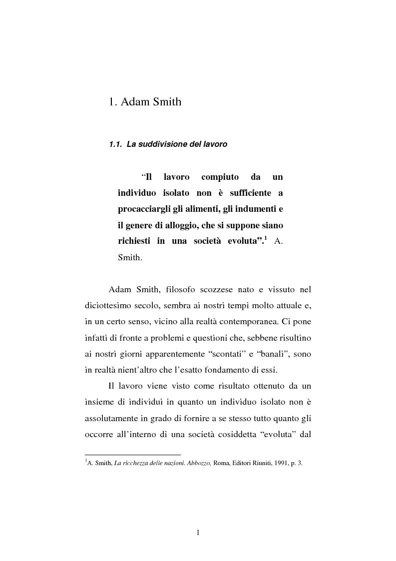 Anteprima della tesi: Amartya Sen lettore di Smith. Osservazioni sulla globalizzazione, Pagina 1