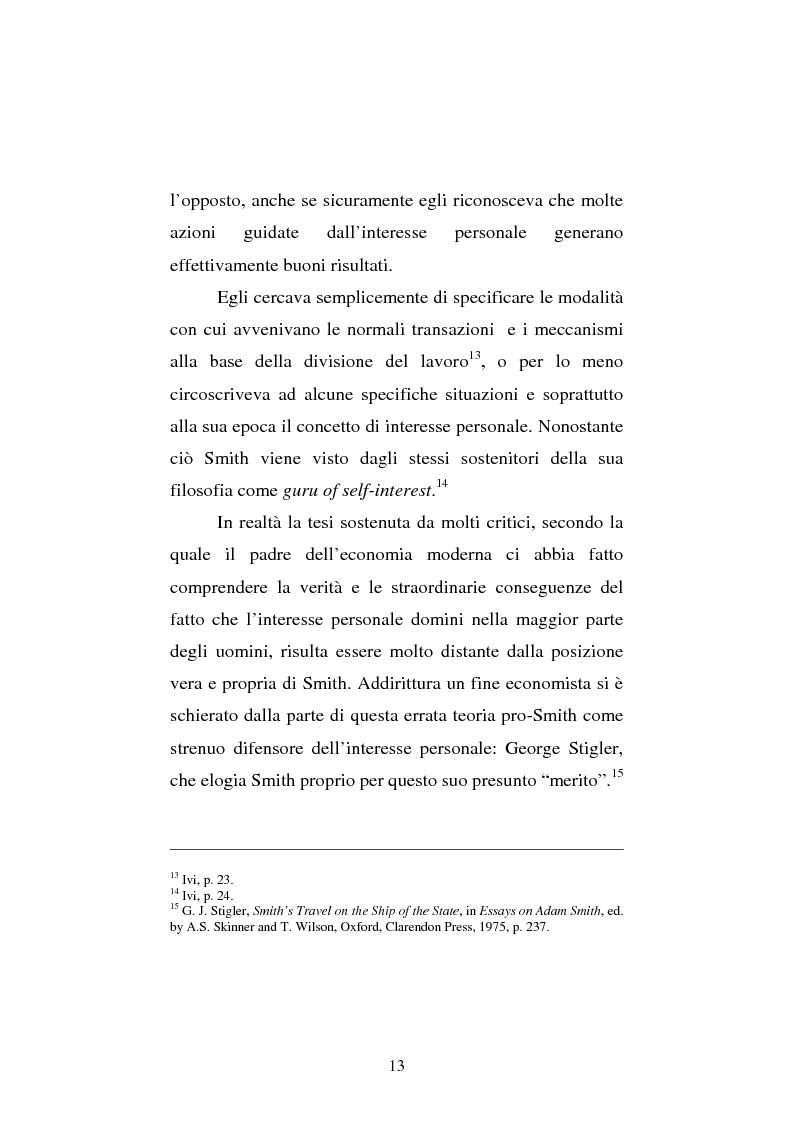 Anteprima della tesi: Amartya Sen lettore di Smith. Osservazioni sulla globalizzazione, Pagina 13