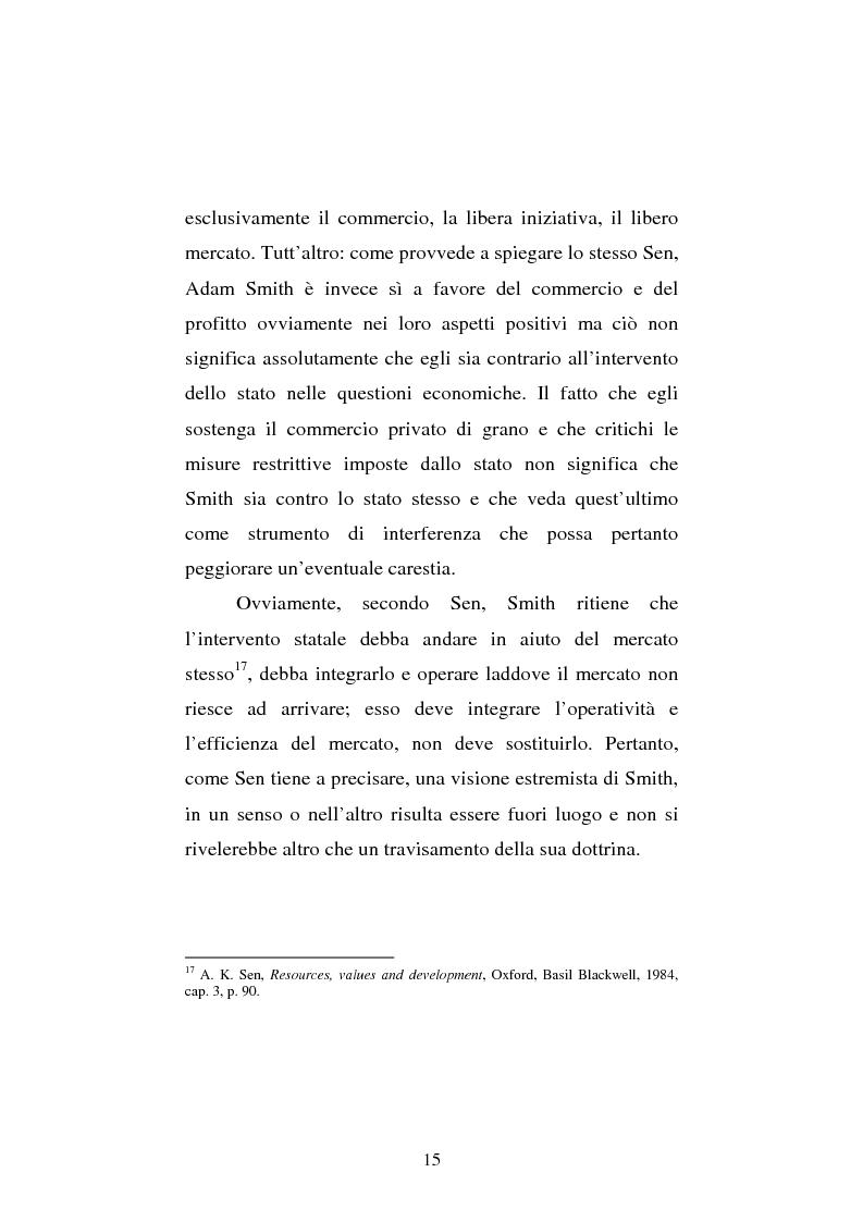 Anteprima della tesi: Amartya Sen lettore di Smith. Osservazioni sulla globalizzazione, Pagina 15