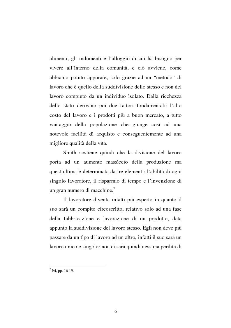 Anteprima della tesi: Amartya Sen lettore di Smith. Osservazioni sulla globalizzazione, Pagina 6