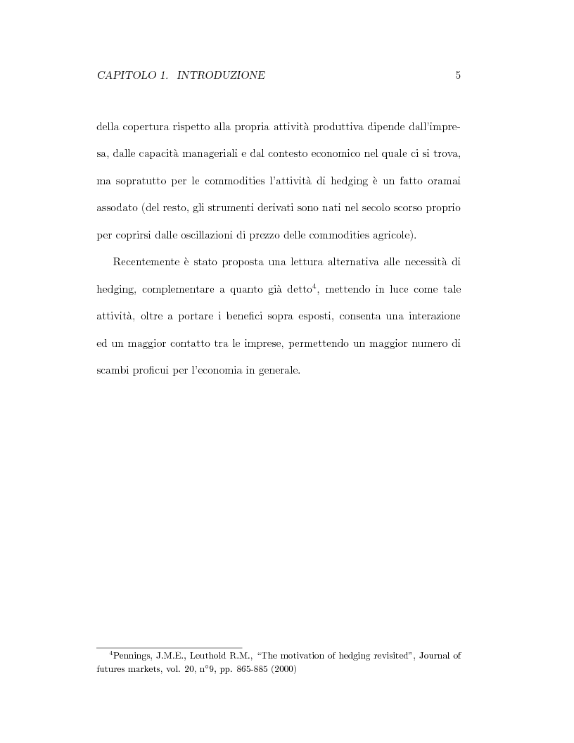 Anteprima della tesi: Il pricing dei derivati sul crude oil, Pagina 5
