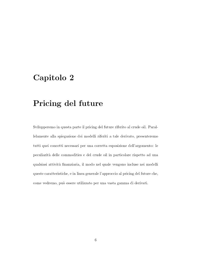 Anteprima della tesi: Il pricing dei derivati sul crude oil, Pagina 6