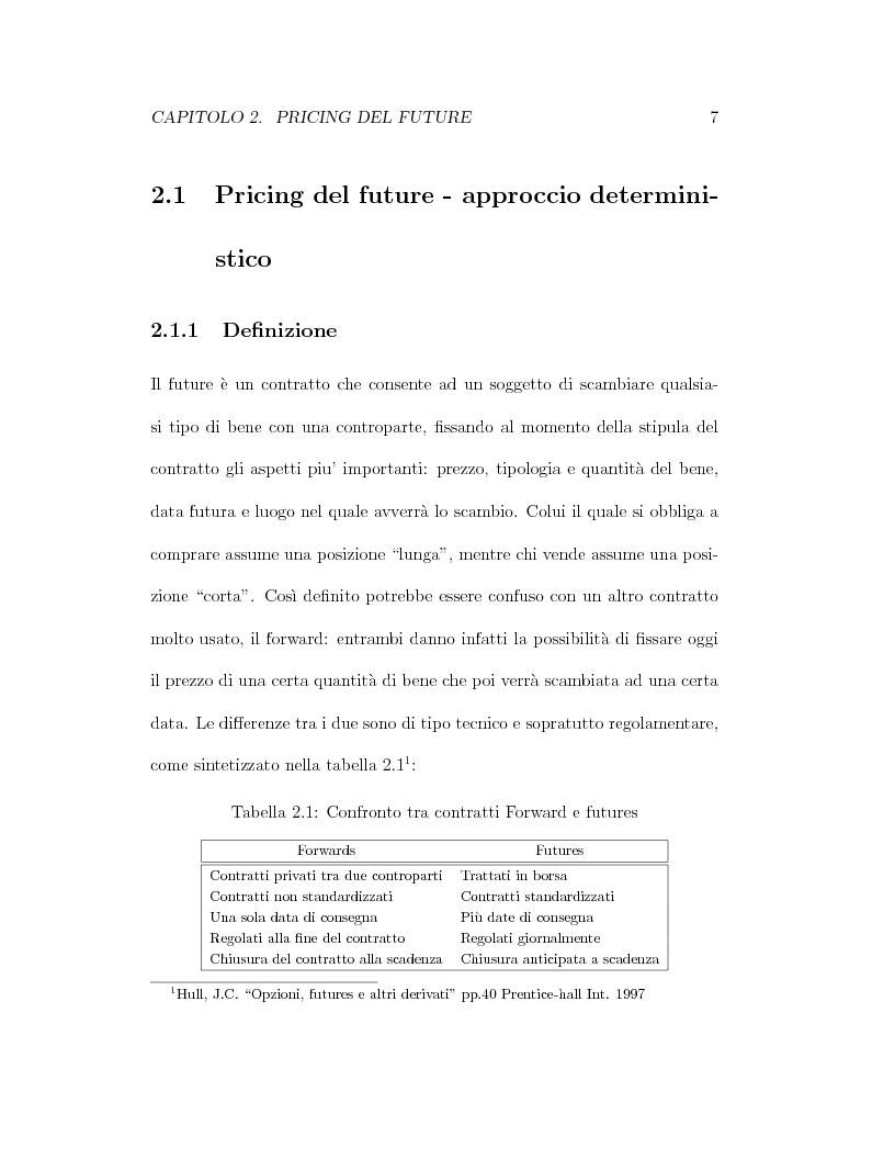 Anteprima della tesi: Il pricing dei derivati sul crude oil, Pagina 7