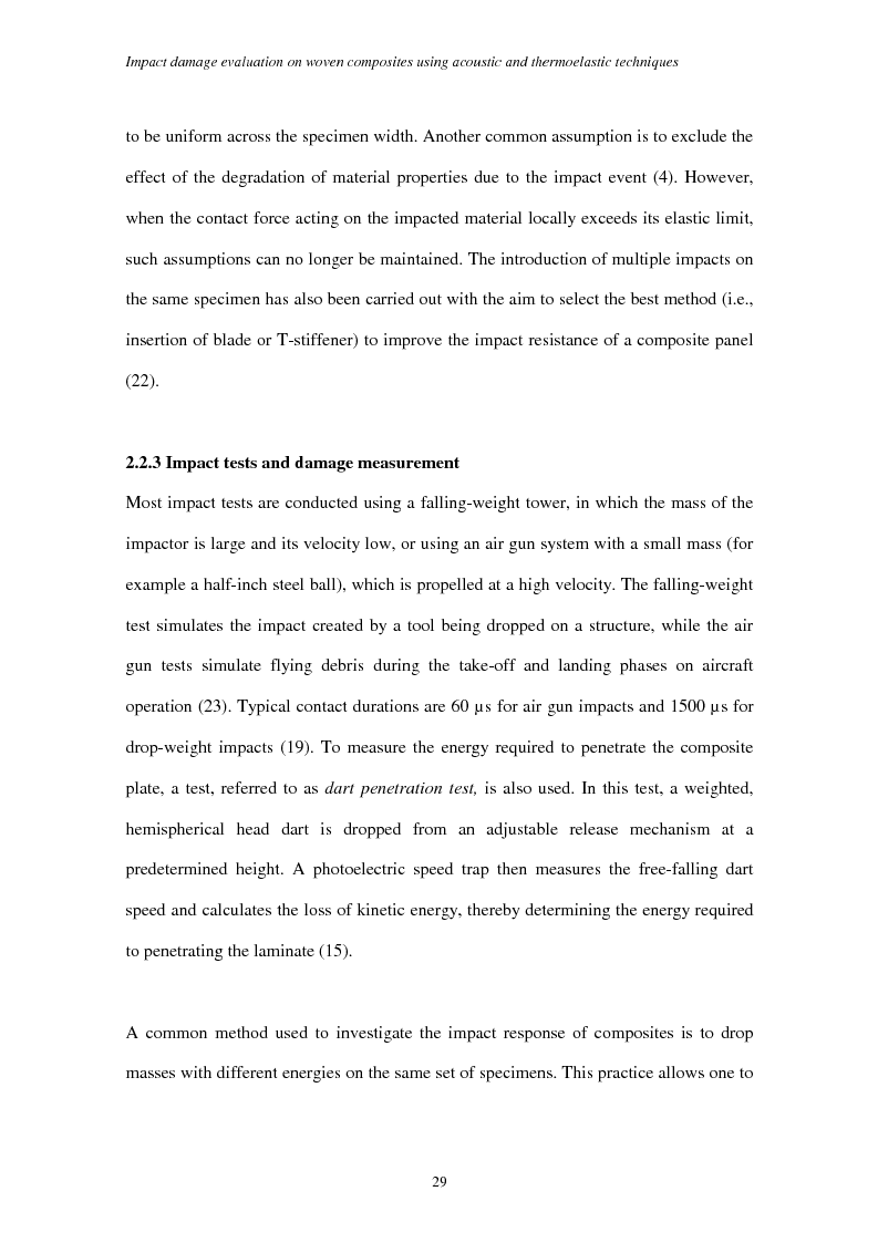 Anteprima della tesi: Impact damage evaluation in woven composites using acoustic and thermoelastic techniques, Pagina 11