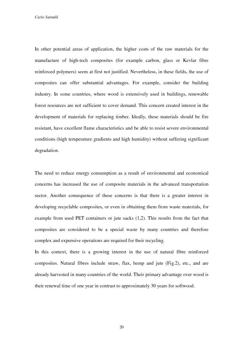 Anteprima della tesi: Impact damage evaluation in woven composites using acoustic and thermoelastic techniques, Pagina 2