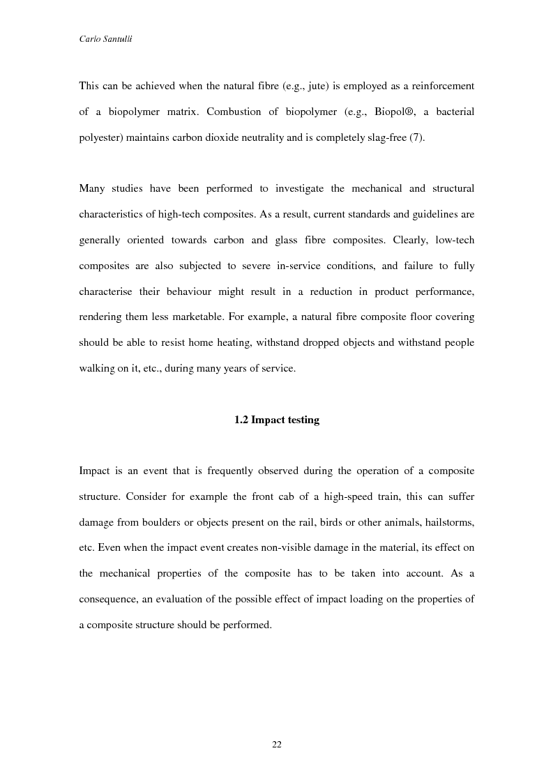 Anteprima della tesi: Impact damage evaluation in woven composites using acoustic and thermoelastic techniques, Pagina 4