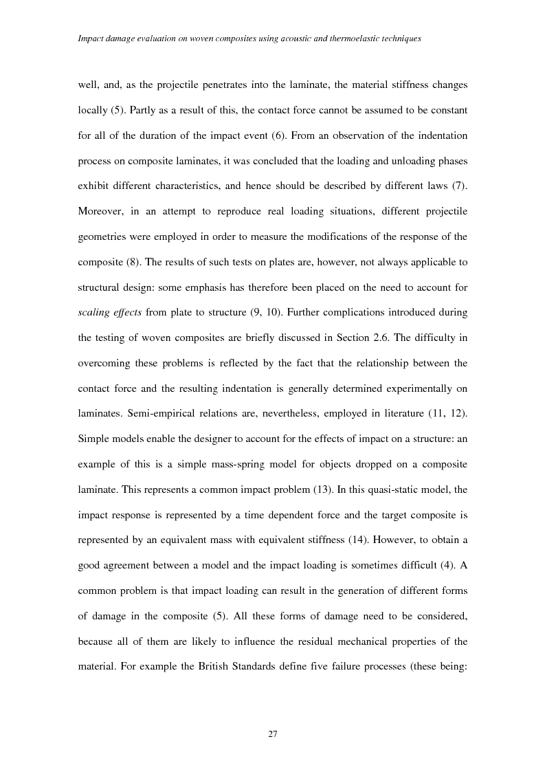 Anteprima della tesi: Impact damage evaluation in woven composites using acoustic and thermoelastic techniques, Pagina 9