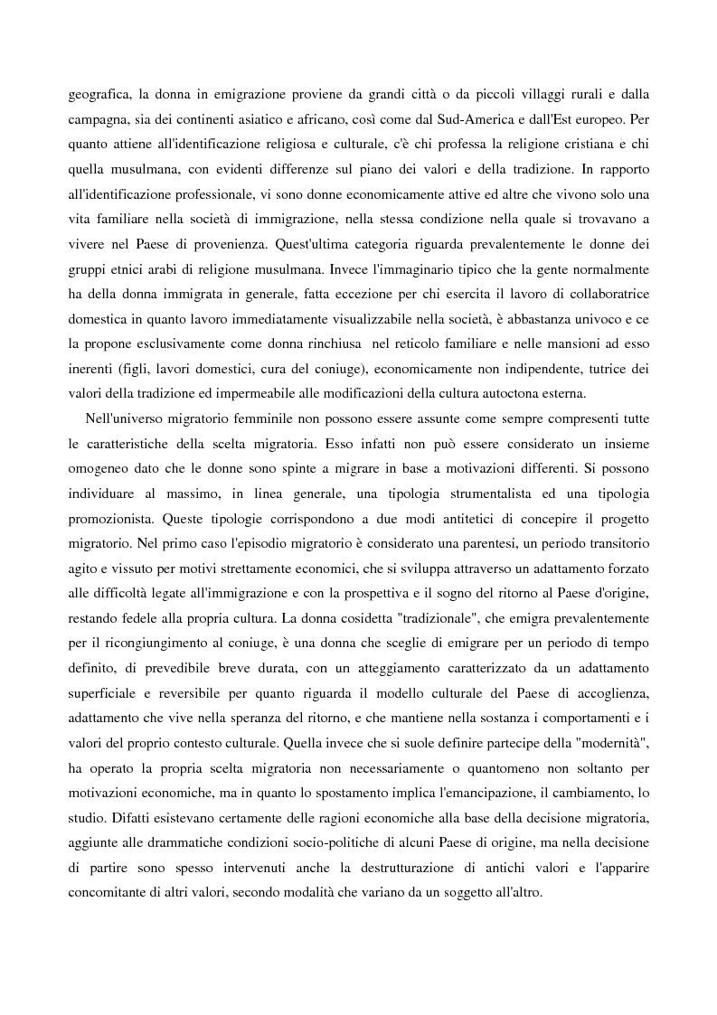 Anteprima della tesi: L'immigrazione femminile in Italia, Pagina 10
