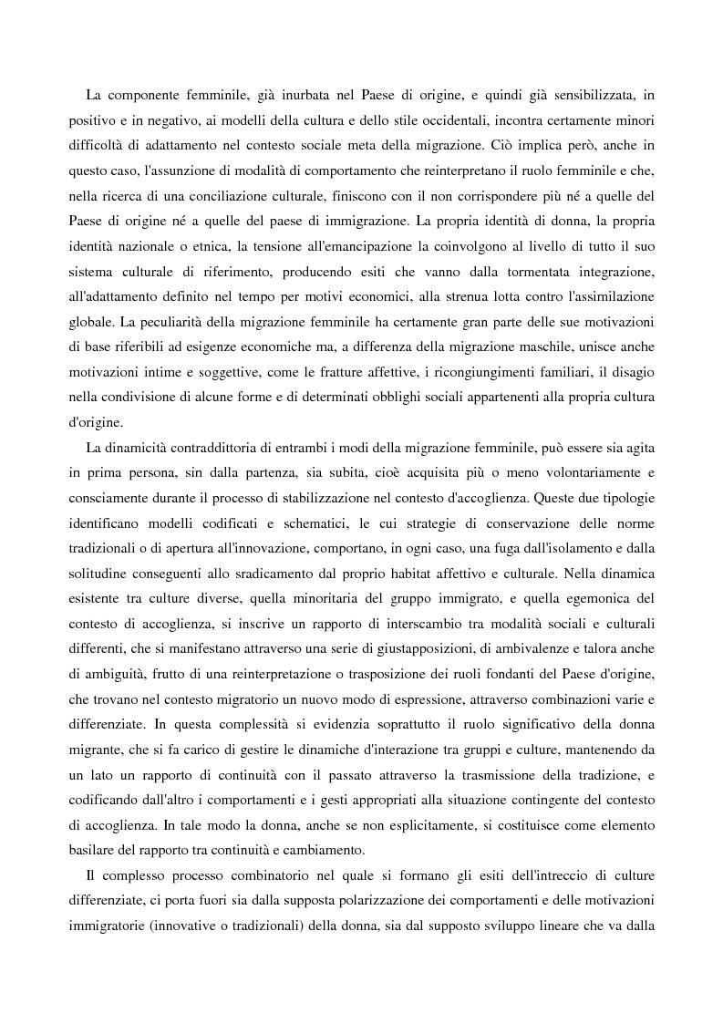 Anteprima della tesi: L'immigrazione femminile in Italia, Pagina 11