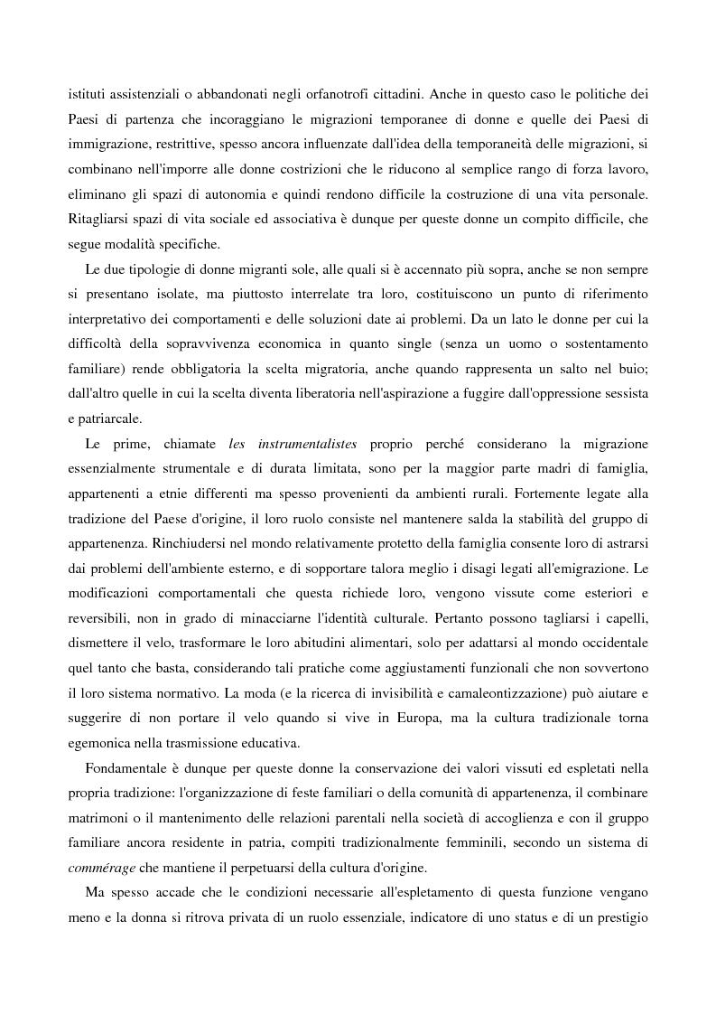 Anteprima della tesi: L'immigrazione femminile in Italia, Pagina 13