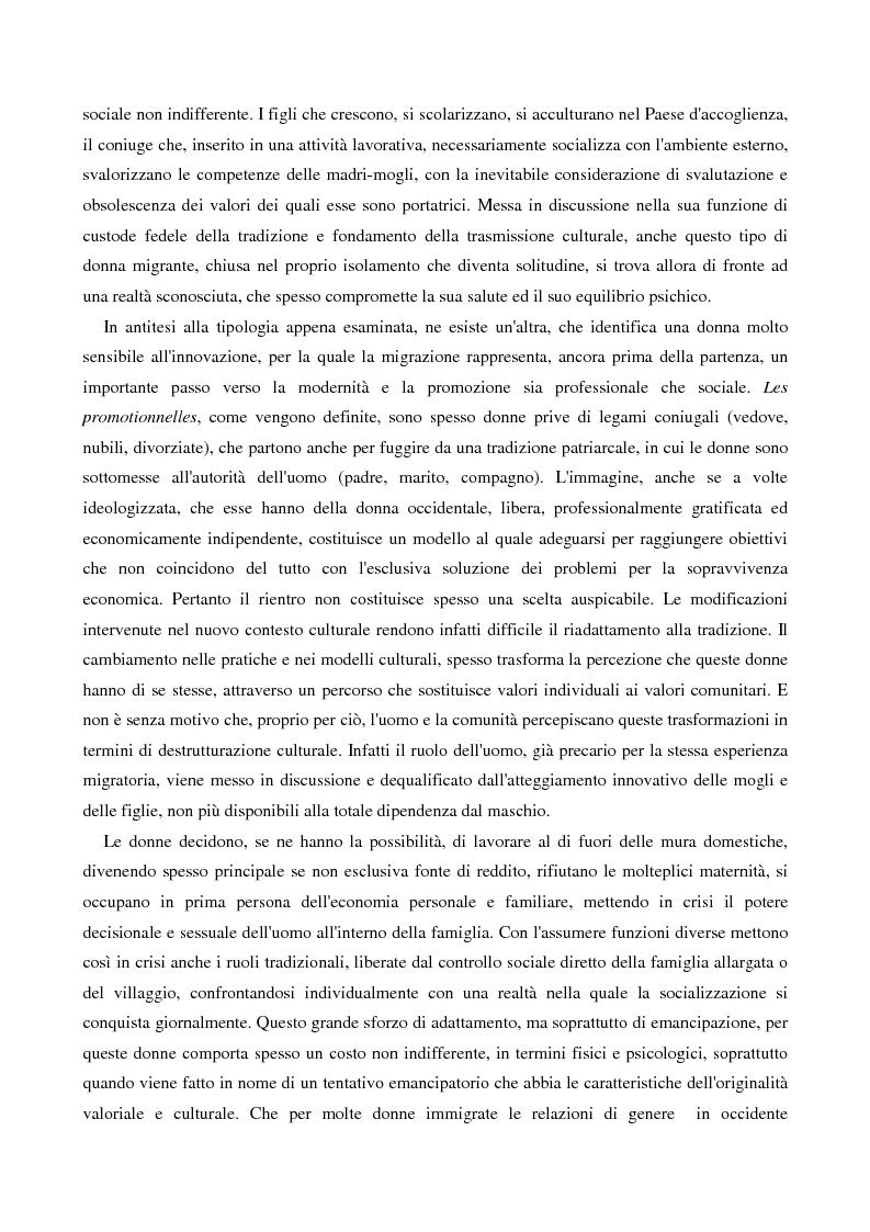 Anteprima della tesi: L'immigrazione femminile in Italia, Pagina 14