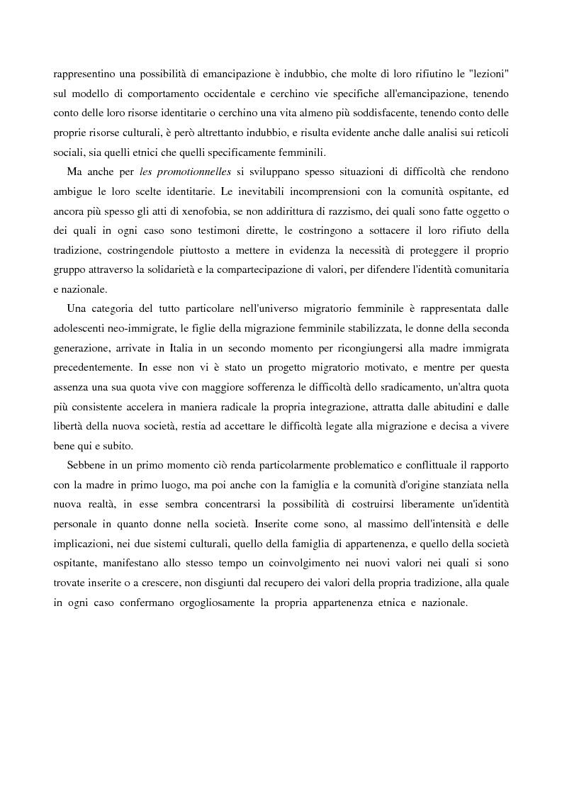 Anteprima della tesi: L'immigrazione femminile in Italia, Pagina 15