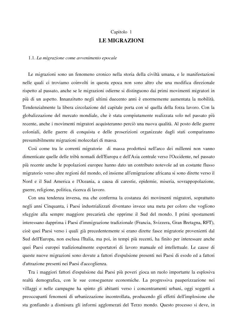 Anteprima della tesi: L'immigrazione femminile in Italia, Pagina 3