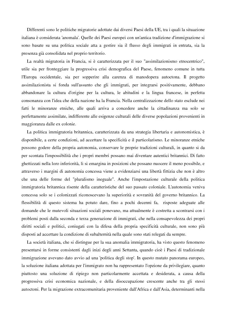 Anteprima della tesi: L'immigrazione femminile in Italia, Pagina 5