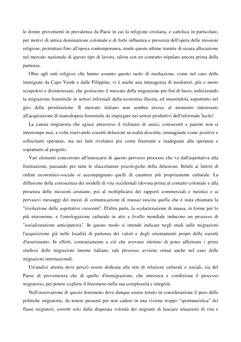 Anteprima della tesi: L'immigrazione femminile in Italia, Pagina 8