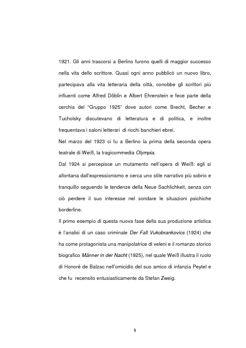 Anteprima della tesi: ''Jarmila. Una storia d'amore boema'' di Ernst Weiss. Traduzione e commento, Pagina 10