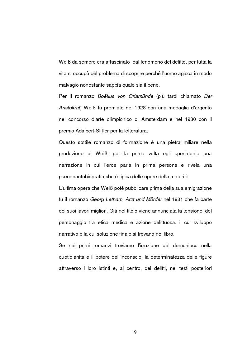 Anteprima della tesi: ''Jarmila. Una storia d'amore boema'' di Ernst Weiss. Traduzione e commento, Pagina 11