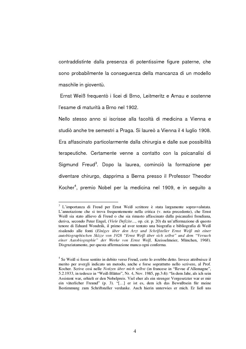 Anteprima della tesi: ''Jarmila. Una storia d'amore boema'' di Ernst Weiss. Traduzione e commento, Pagina 6