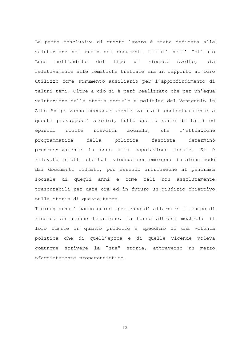 Anteprima della tesi: Il turismo nelle località dolomitiche nel Ventennio attraverso l'analisi dei cinegiornali Luce, Pagina 10