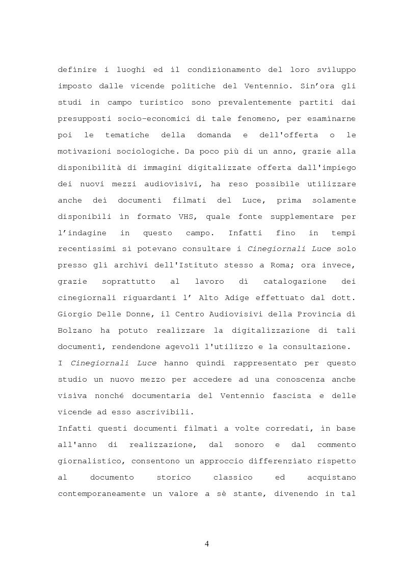 Anteprima della tesi: Il turismo nelle località dolomitiche nel Ventennio attraverso l'analisi dei cinegiornali Luce, Pagina 2