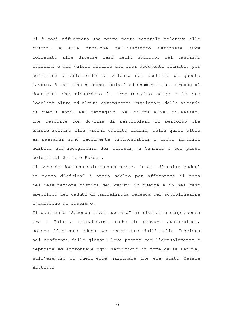 Anteprima della tesi: Il turismo nelle località dolomitiche nel Ventennio attraverso l'analisi dei cinegiornali Luce, Pagina 8