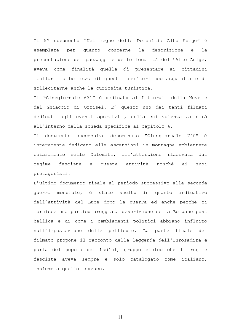 Anteprima della tesi: Il turismo nelle località dolomitiche nel Ventennio attraverso l'analisi dei cinegiornali Luce, Pagina 9