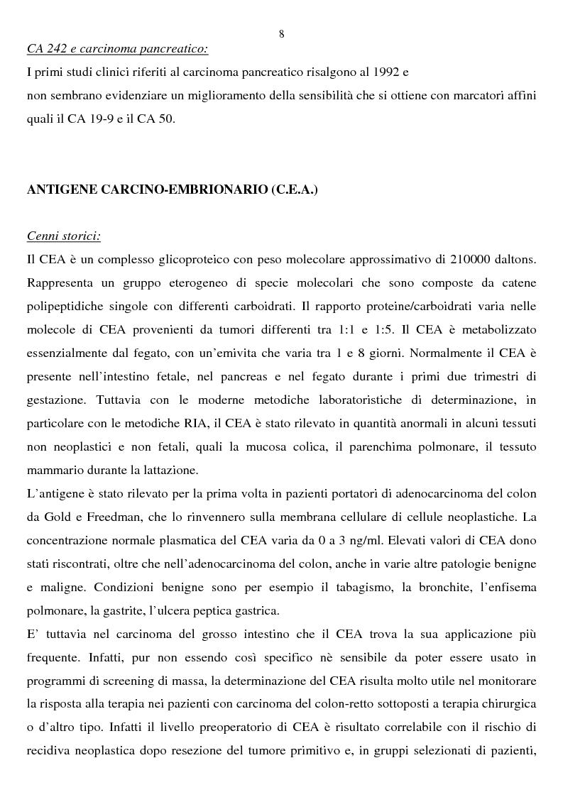 Anteprima della tesi: Valutazione clinica dell'anticorpo monoclonale SPan-1 nella diagnosi di adenocarcinoma pancreatico esocrino, Pagina 4
