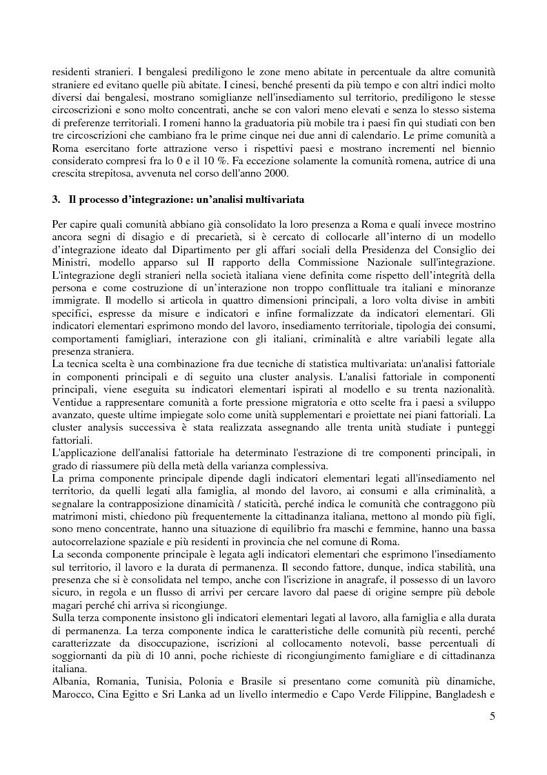 Anteprima della tesi: Le comunità straniere nell'area romana: caratteristiche e processi d'integrazione, Pagina 5