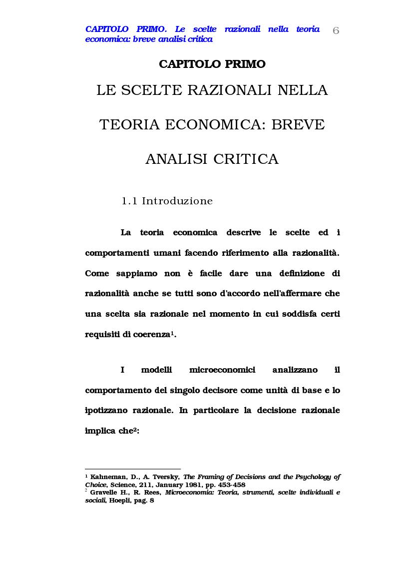Anteprima della tesi: Comportamento del consumatore e illusioni cognitive, Pagina 1