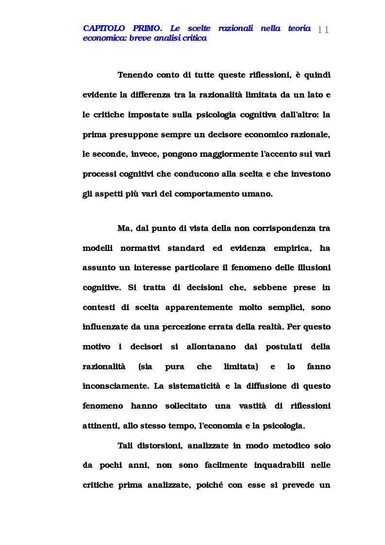 Anteprima della tesi: Comportamento del consumatore e illusioni cognitive, Pagina 6