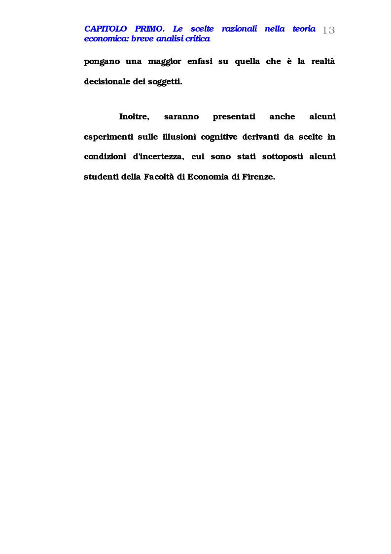 Anteprima della tesi: Comportamento del consumatore e illusioni cognitive, Pagina 8